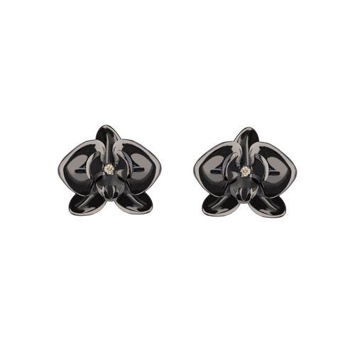 brinco-mini-orquidea-prata-vermeil-rodio-negro-diamantes