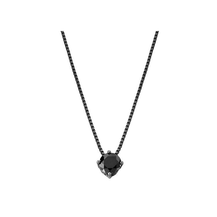 colar-solitario-diamante-negro-ouro-branco-rodio-negro