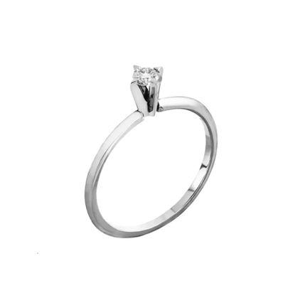 b8186096707f9 Anel Solitário Ouro Branco Diamante - Jack Vartanian