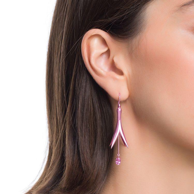 brinco-de-princesa-p-prata-com-pink-lacquer-e-safira-rosa-modelo