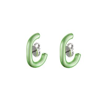 ear-hook-prata-com-green-lacquer-still