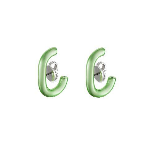 ear-hook-prata-com-green-lacquer-still