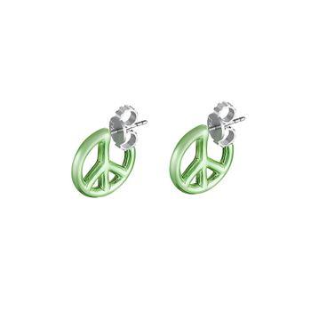 brinco-peace-and-love-prata-com-green-lacquer-still