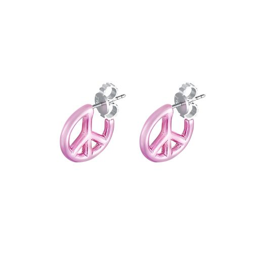 brinco-peace-and-love-prata-com-pink-lacquer-still
