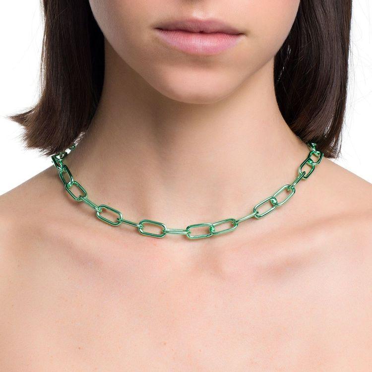 colar-pop-chain-prata-com-green-lacquer-modelo