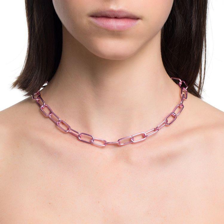 colar-pop-chain-prata-com-pink-lacquer-modelo