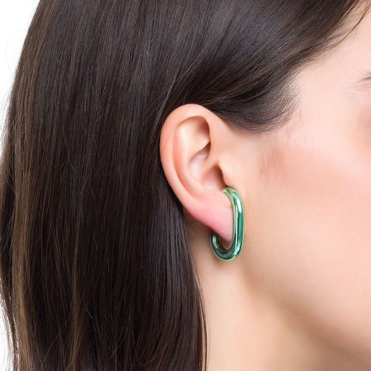 ear-hook-prata-com-green-lacquer-modelo