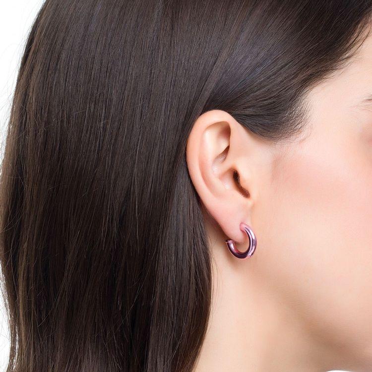 argola-pop-chain-mini-prata-com-pink-lacquer-modelo