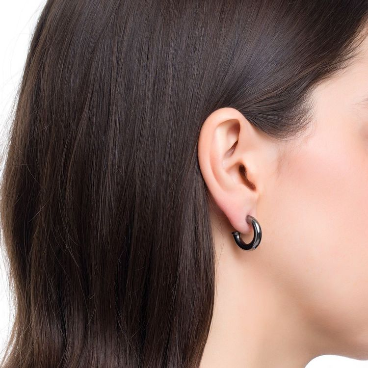 argola-pop-chain-mini-prata-com-banho-de-rodio-negro-modelo