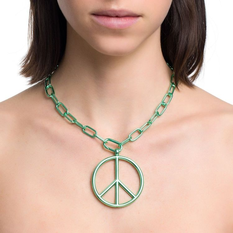pingente-peace-and-love-g-prata-com-green-lacquer-modelo