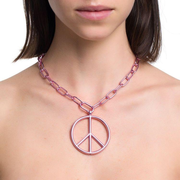pingente-peace-and-love-g-prata-com-pink-lacquer-modelo