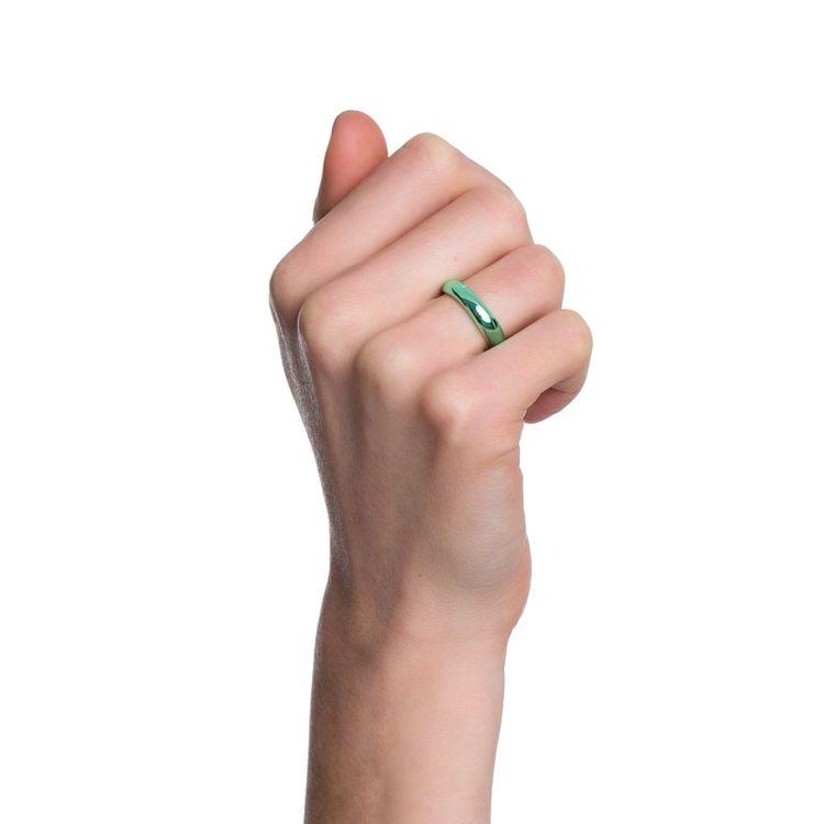 anel-tubo-prata-com-green-lacquer-modelo