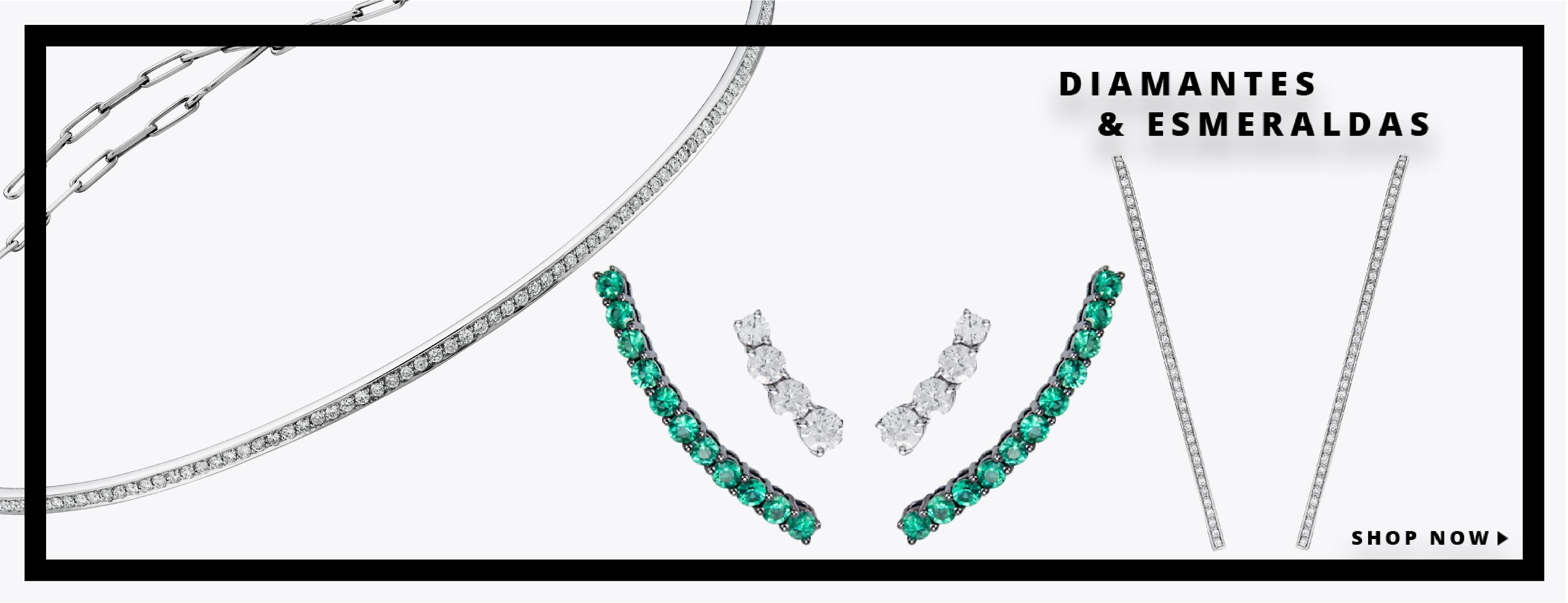 Diamantes e esmeraldas