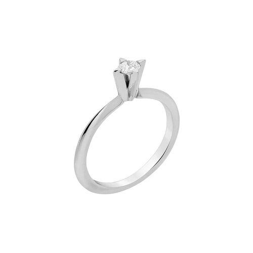 Anel Solitário 10 pontos de diamantes - 9