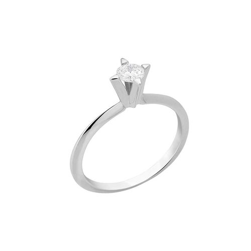 Anel Solitário 30 pontos de diamantes - 9