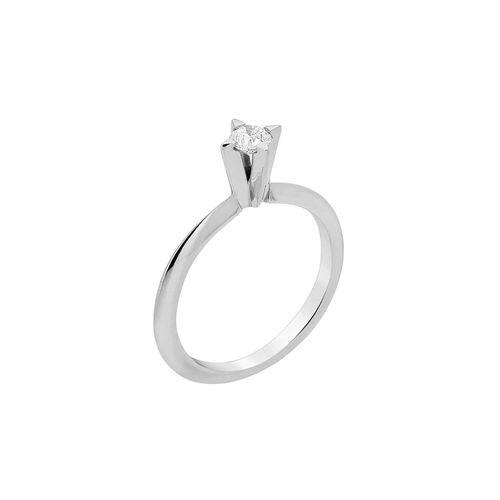 Anel Solitário 18 pontos de diamantes - 9