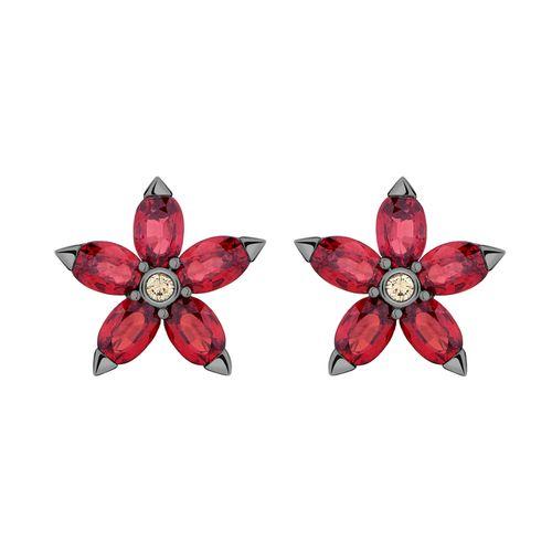 Brinco-Estrela-em-ouro-branco-18k-com-banho-de-rodio-negro-safiras-vermelhas-±588ct-e-diamante-±009ct.
