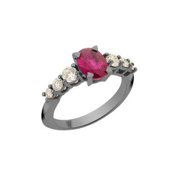 Anel-Rock-Star-G-em-ouro-branco-18k-com-banho-de-rodio-negro-rubi-±-137ct-e-diamantes-light-light-brown-±-061ct.-